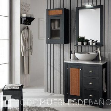 Mueble color Nº11 de 70cm+ Lavabo Valencia + Encimera ...