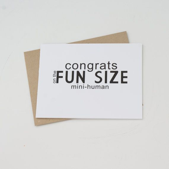 New Baby Modern Funny Greeting Card By Dodelinedesign On Etsy 350 Stationery