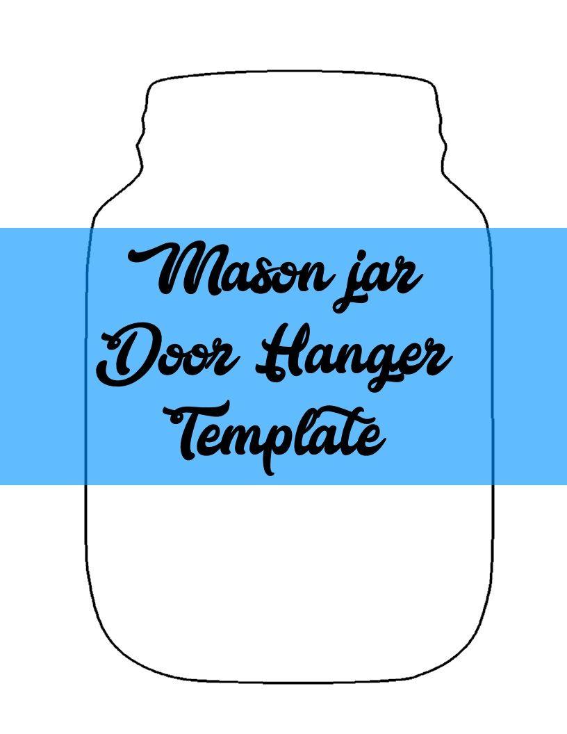 mason jar door hanger template door hanger templates door hanger