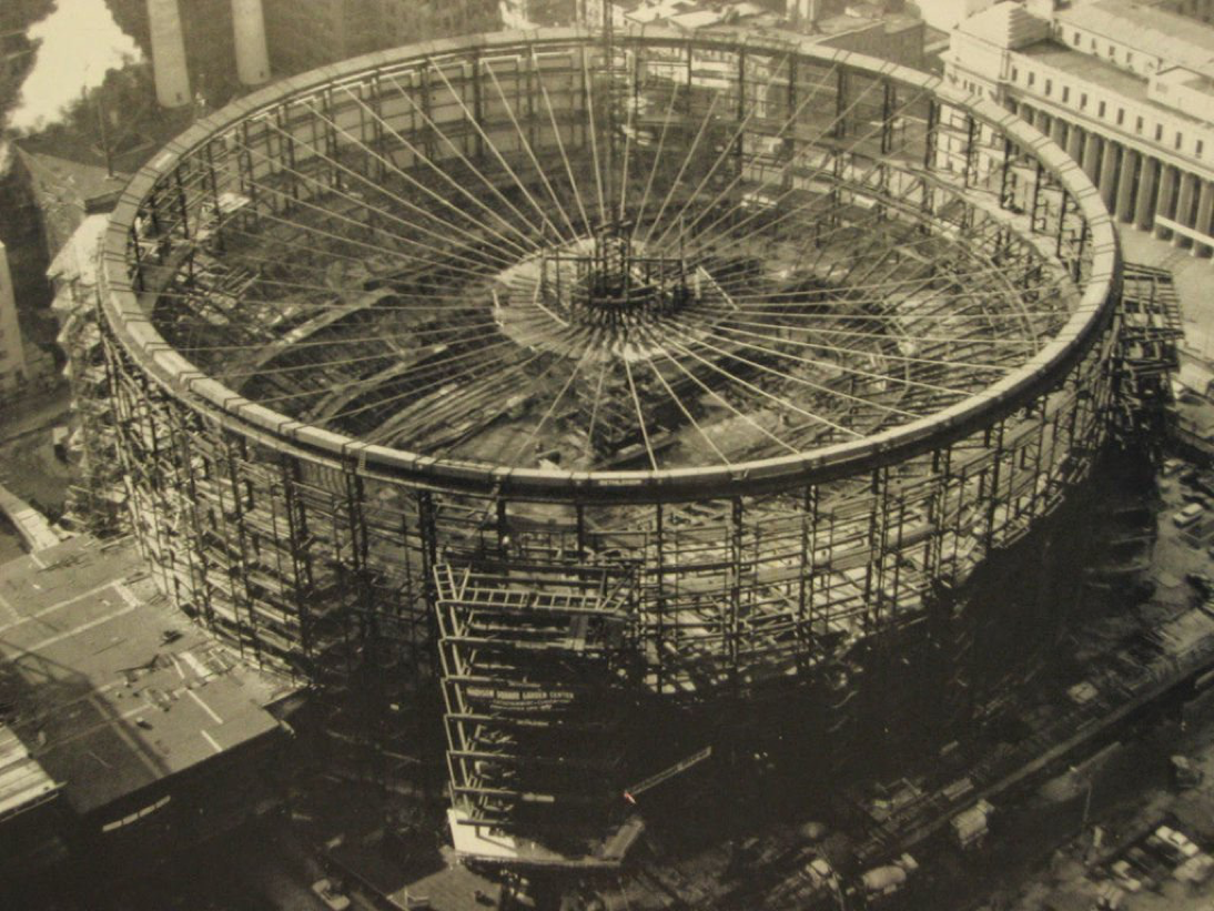 Madison Square Garden during construction c. 1966 | New York City ...