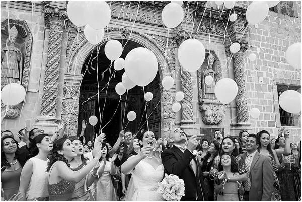 Balloon Send Off For Bride And Groom