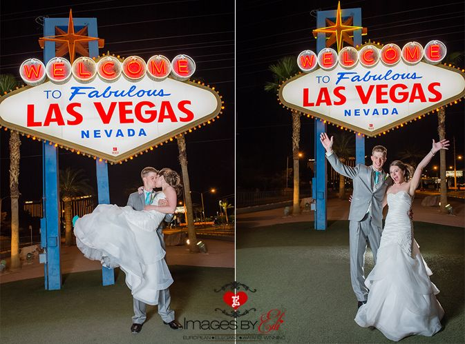Bali Hai Golf Course Wedding In Las Vegas Bride And Groom At The Welcome To