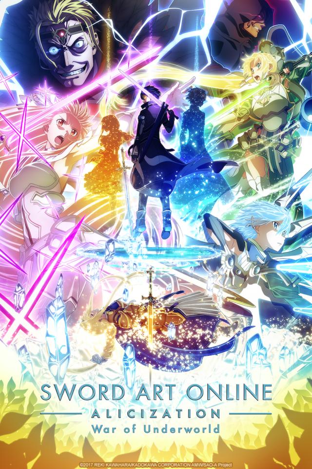 Sword Art Online Alicization War Of Underworld Continues On Crunchyroll This April Sword Art Online Poster Sword Art Online Wallpaper Sword Art Online Kirito