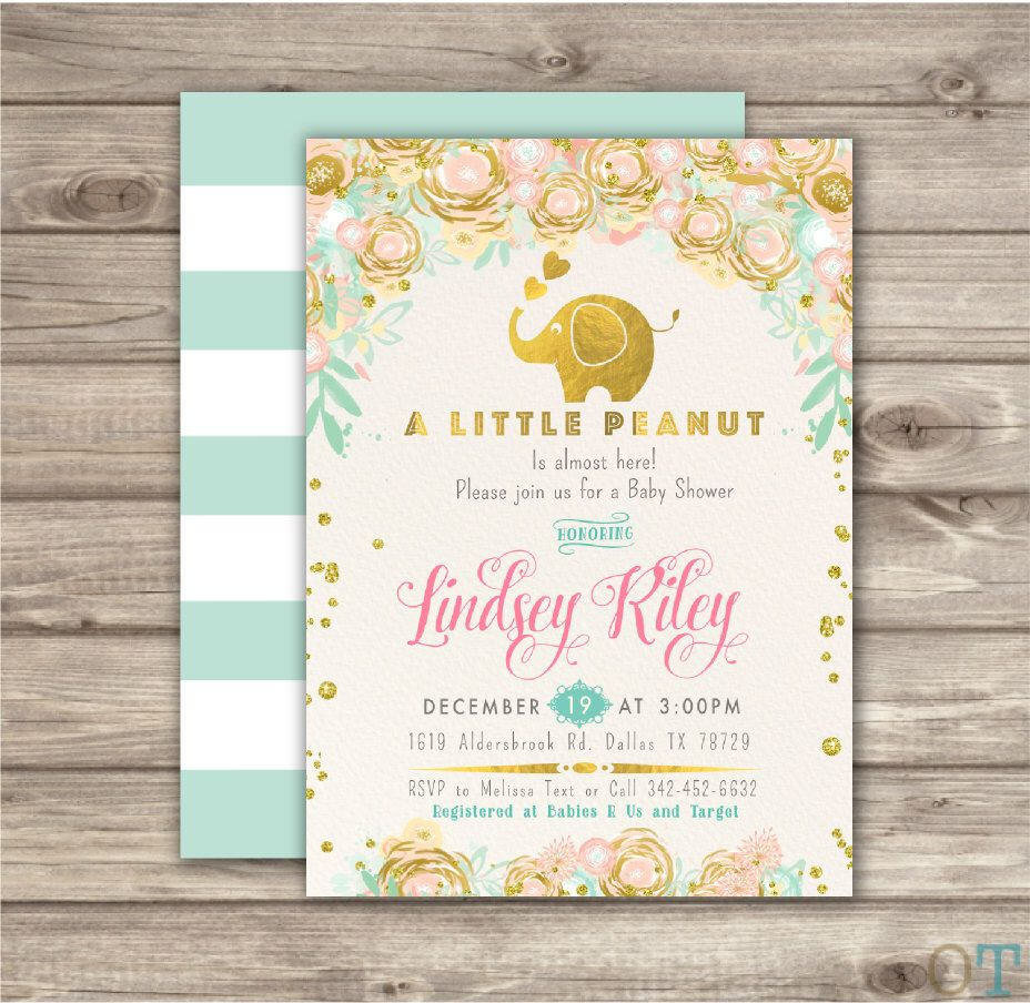 archive princess invitations gldesigns for shower gold and tag go pink baby invitation