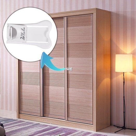 Blulu Child Safety Sliding Door Locks For Closet Window Baby Proofing 4 Pack Child Safety Child Safety Locks Baby Proofing