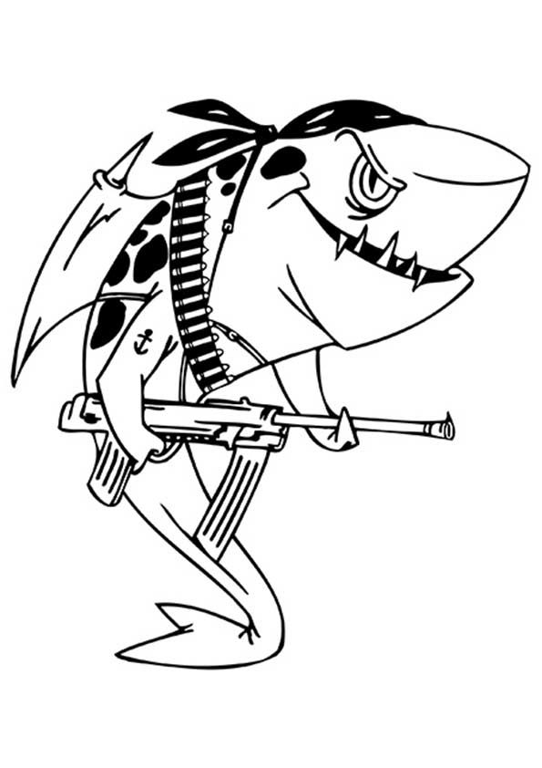 Shark Coloring Pages Momjunction Images