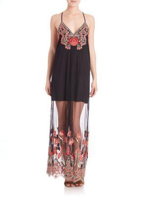 0669edd051 ALICE AND OLIVIA Sally Embroidery Long Slip Dress.  aliceandolivia  cloth   dress