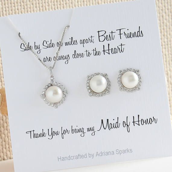 Maid Of Honor Gift Pearl Jewelry Set Maid Of Honor Proposal Maid Of Honor Sister Gift Bridesmaid Gift I Maid Of Honour Gifts Maid Of Honor Bridesmaid Gifts