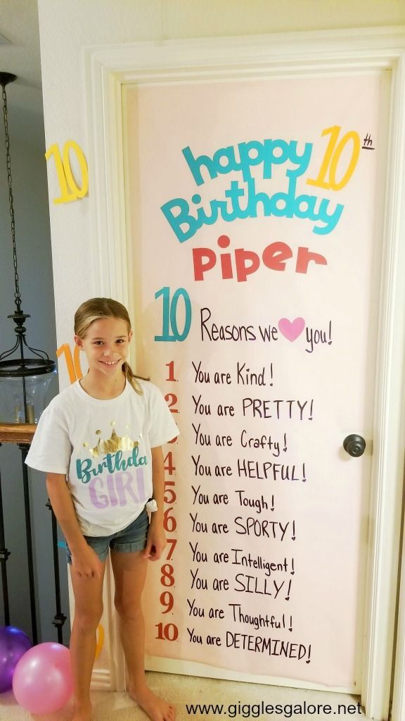 10th Birthday Tradition and Surprise Birthday Sign