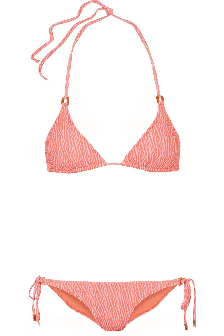 MELISSA ODABASH Key West printed triangle bikini. #melissaodabash #cloth # bikini