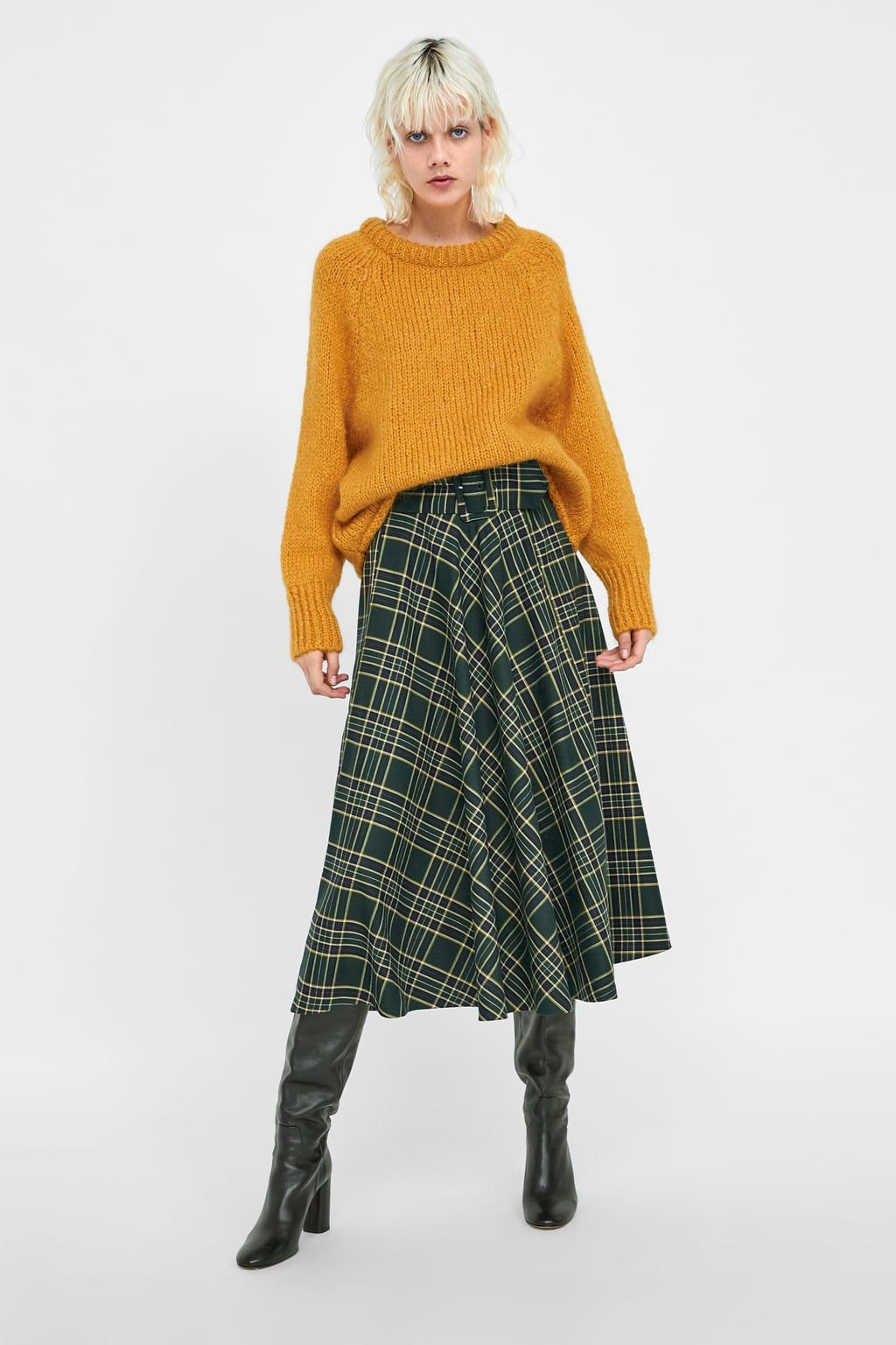 319162eb02 Image 1 of BELTED PLAID SKIRT from Zara BELTED PLAID SKIRT Fall Must Haves,  Plaid