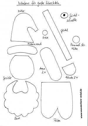 nikolaus aus schachtel zum f llen weihnachten basteln. Black Bedroom Furniture Sets. Home Design Ideas