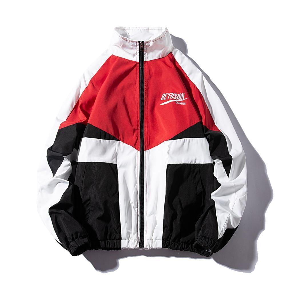 Les Koman Spring Autumn Men Jacket Hiphop Casul Streetwear Sports Coats Windbreaker Outwear Windbreaker Hooded Jacket Men Mens Jackets Casual [ 1000 x 1000 Pixel ]