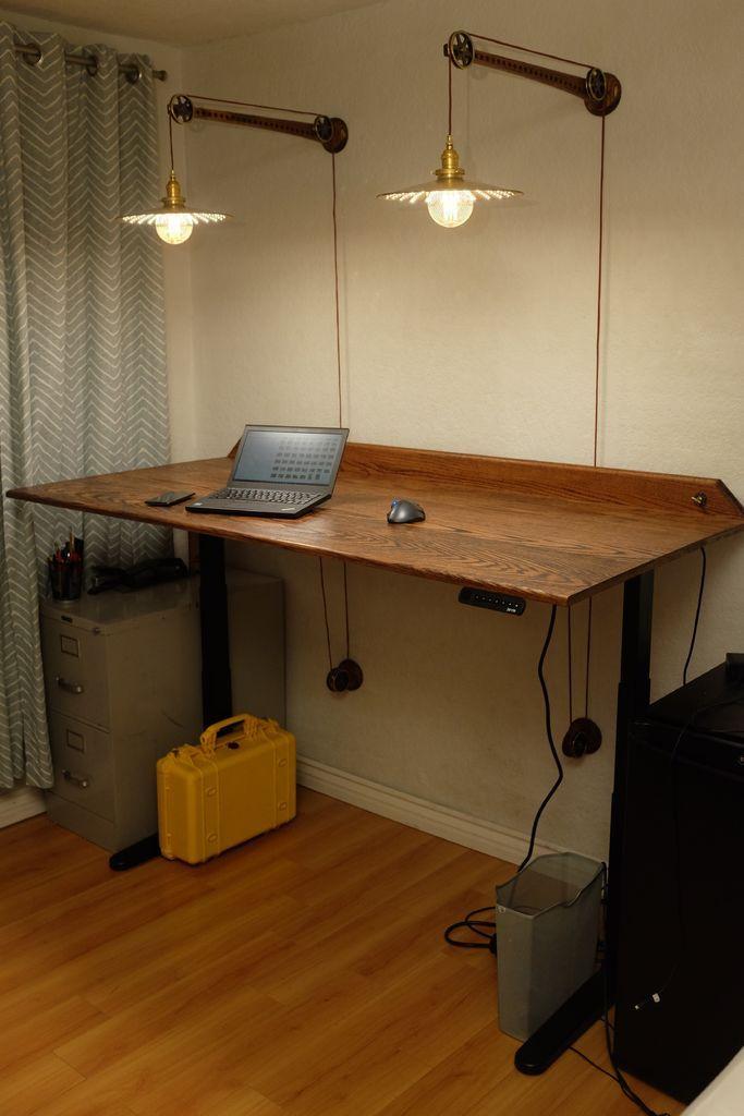 Standing Desk Pulley Lamps Diy Standing Desk Pulley Lamps Standing Desk