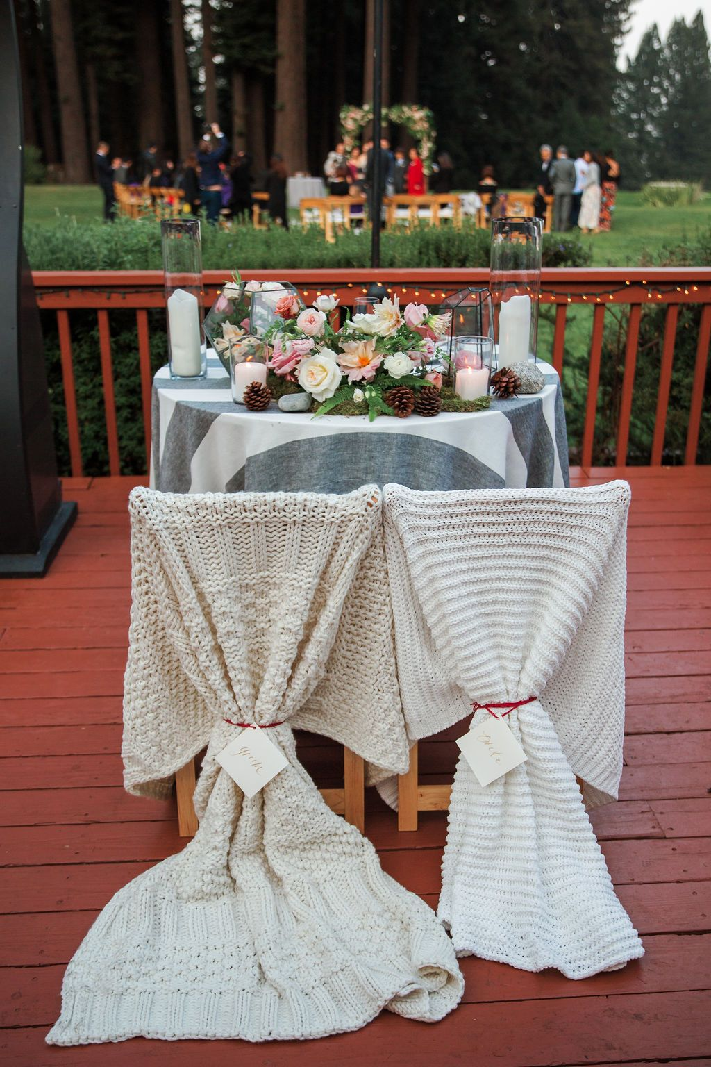 Blanket Couple's Chairs Decorations at The Mountain