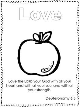 10 Fruit of the Spirit Coloring Worksheets. Preschool-Kindergarten ...