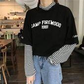 1981 Faux zweiteiliges T-Shirt - New Ideas  #Faux #TShirt #zweiteiliges 1981 Fau...