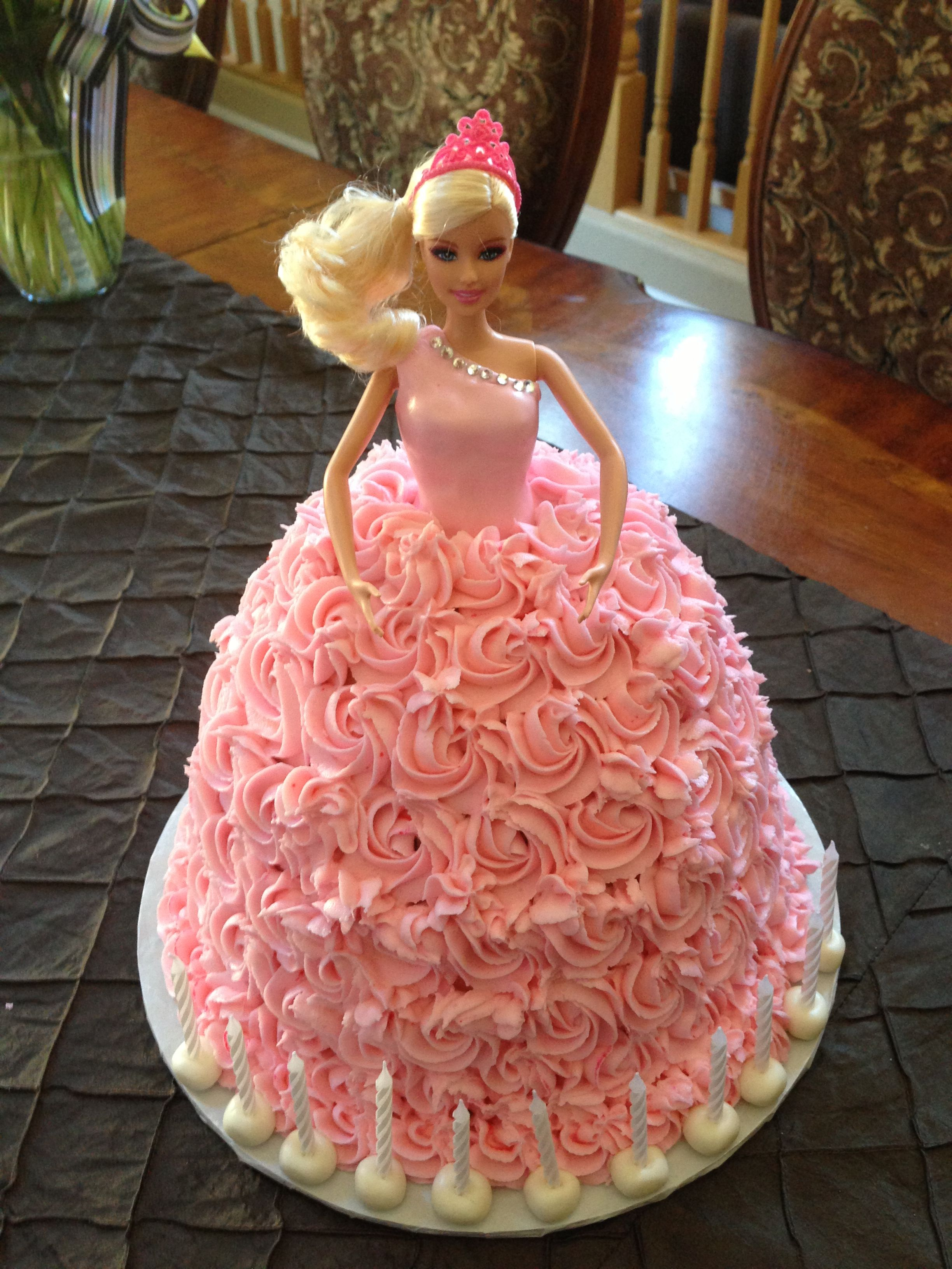 Barbie Buttercream Cake Barbie Doll Birthday Cake Doll Birthday