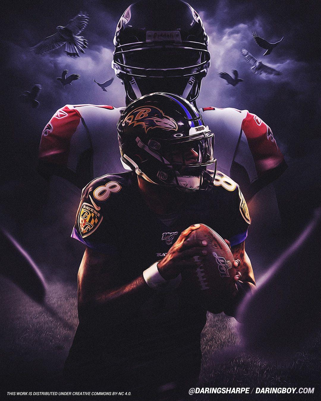 Lamar Jackson Michael Vick Baltimore Ravens Atlanta Falcons In 2020 Michael Vick Lamar Jackson Baltimore Ravens Football