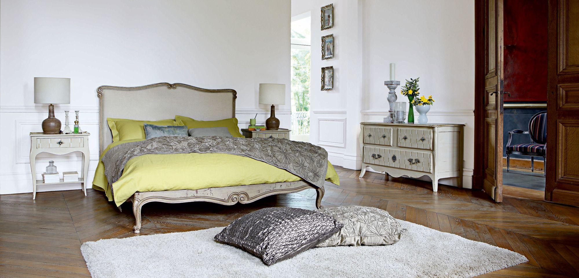 estampe bed  french country furniture bedroom vintage