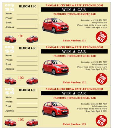 Vroom Car Raffle Ticket Template Chi chapter Pinterest - free raffle ticket template