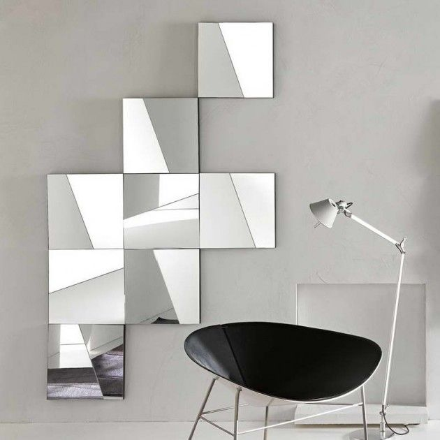 28 unique and stunning wall mirror designs for living room for Mirror wall art