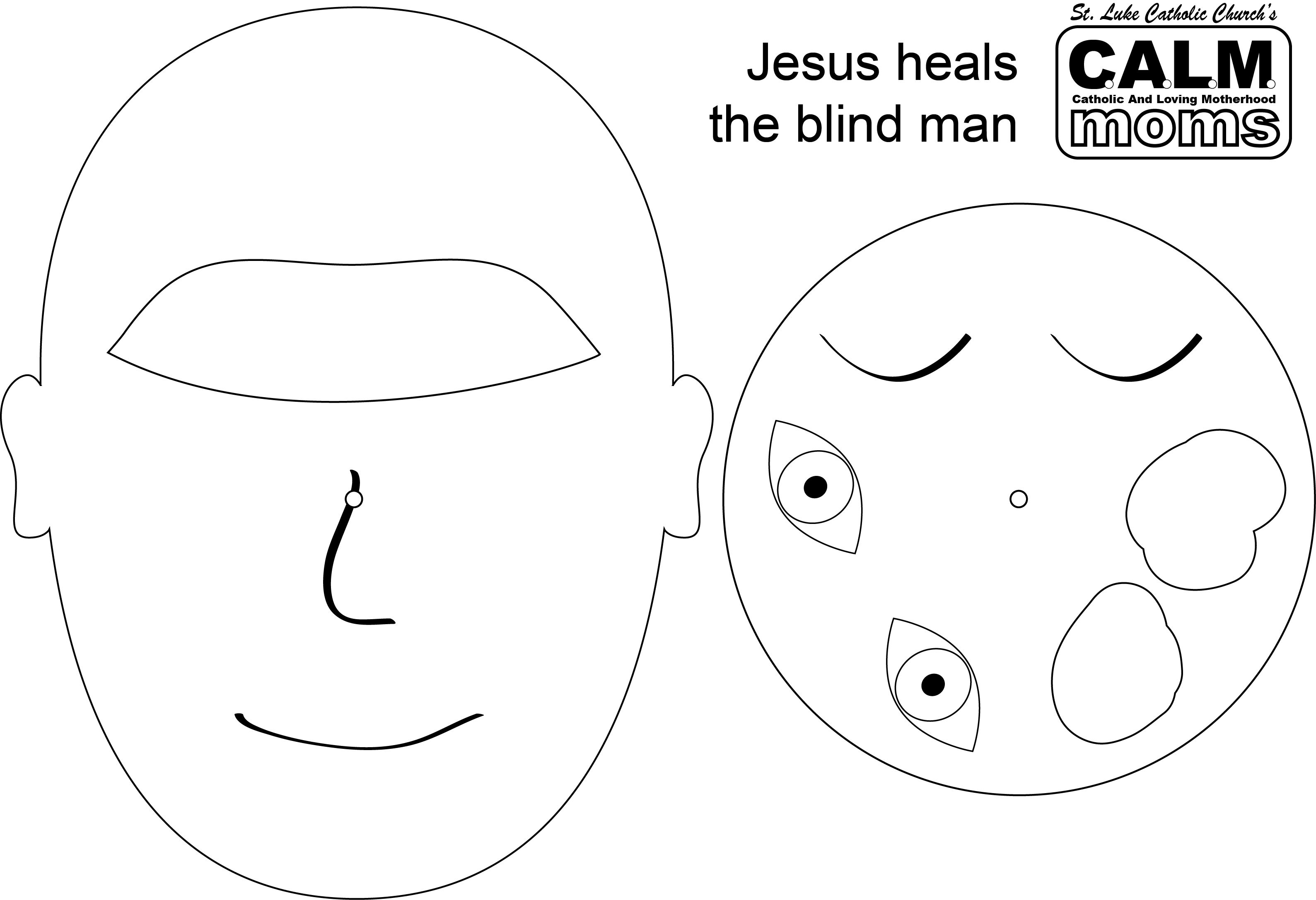 Blind Bartimaeus Craft. Put a brad through the holes