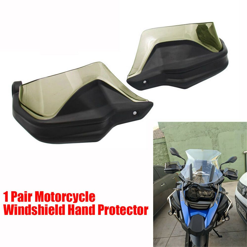 1 Pair Motorcycle Wind Deflector Hand Protectors for BMW R1200GS Black