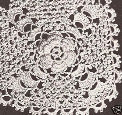 Vintage Irish Rose Crochet MOTIF Tablecloth Pattern