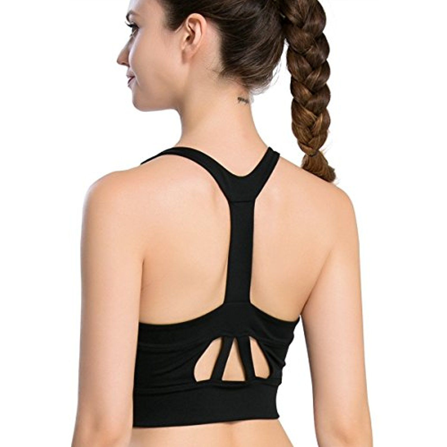 3770ed53643 Campeak Professional Sport Bras High Impact Support Workout Tops for Women    Read more reviews of the product by visiting the link on the image.