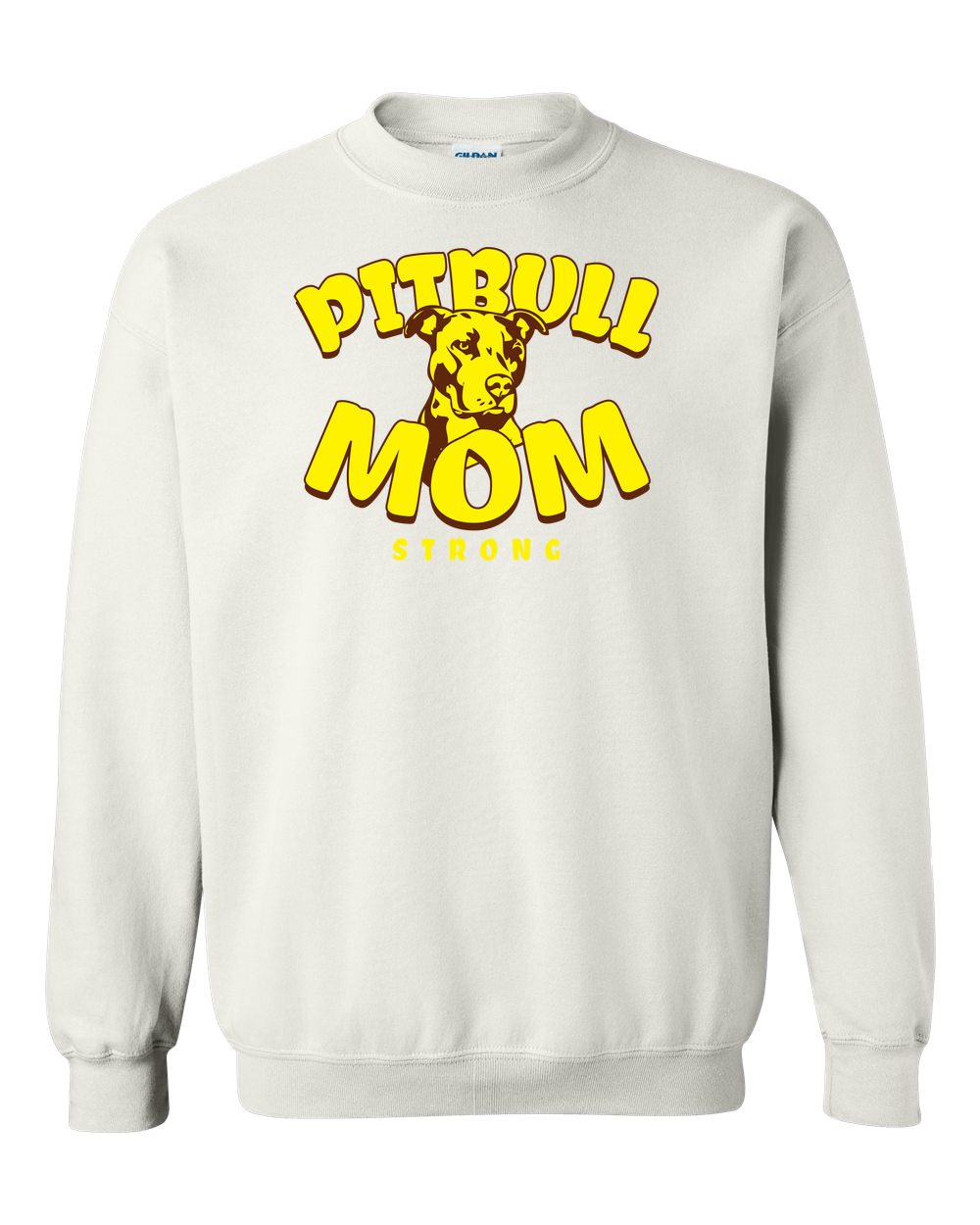 a2d95f9d Pit Bull Mom Strong Adult Crewneck Sweat Shirt | Products ...