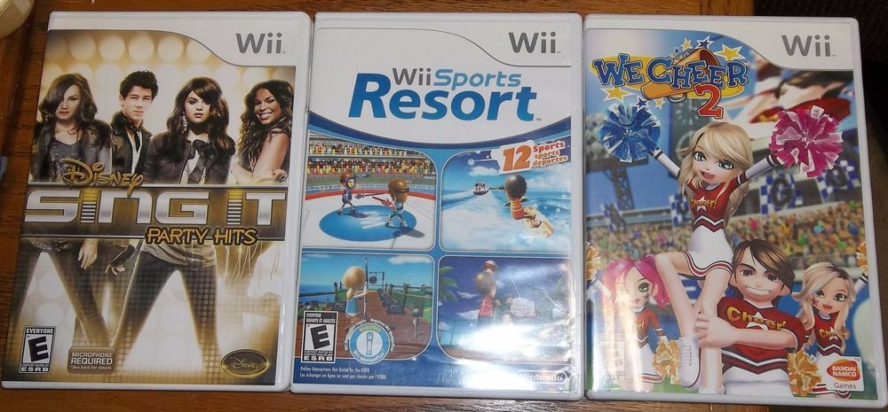 Wii Game Lot We Cheer 2 Disney Sing It Party Hits Sports