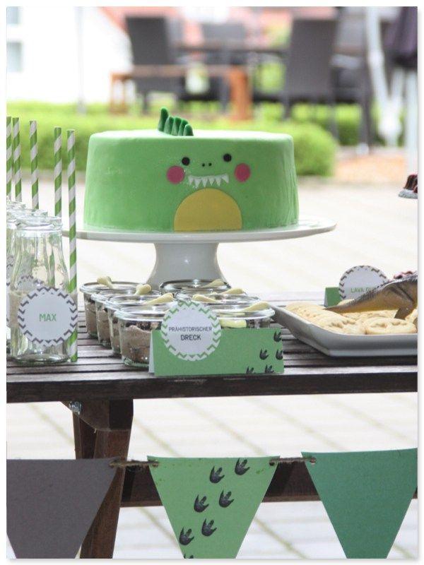 Küchendeko dinoparty torte kuchen deko pickposh de dino