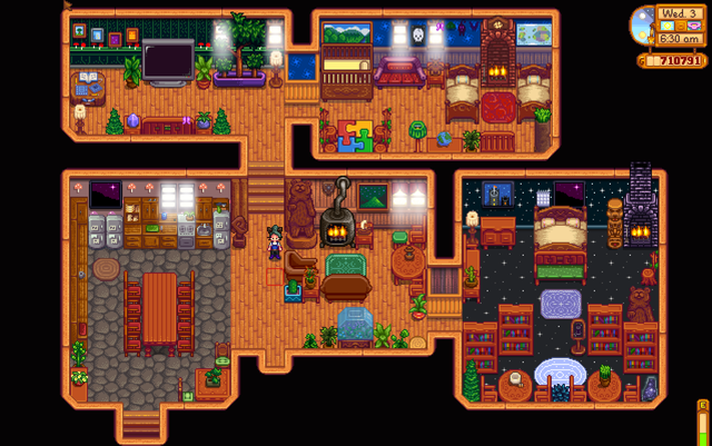 Aesthetic Farmhouses Or Other Interior Places In The Game Stardew