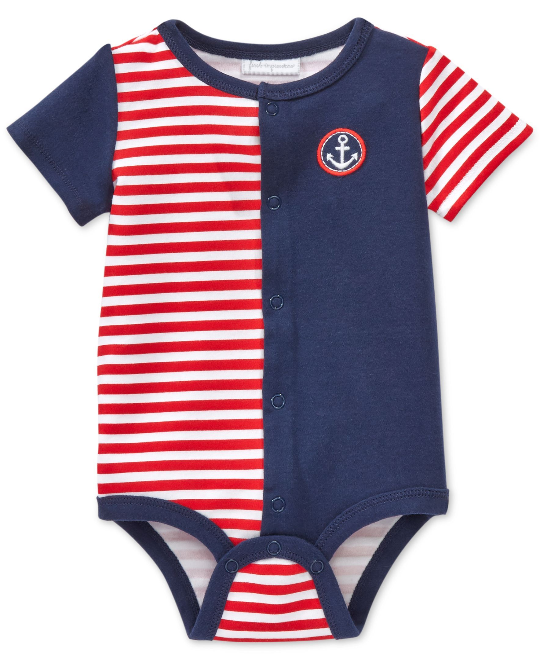 First Impressions Baby Boys' Nautical French Creeper
