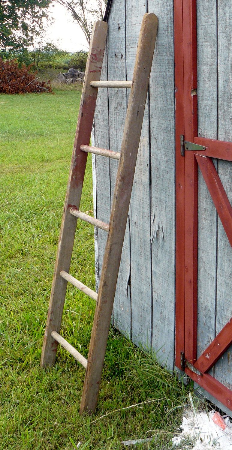 Ladder Antique Barn Ladder By Antiquesurveyor On Etsy 49 00 Bathroom To Hang Towels Old Wooden Ladders Ladder Decor House Styles