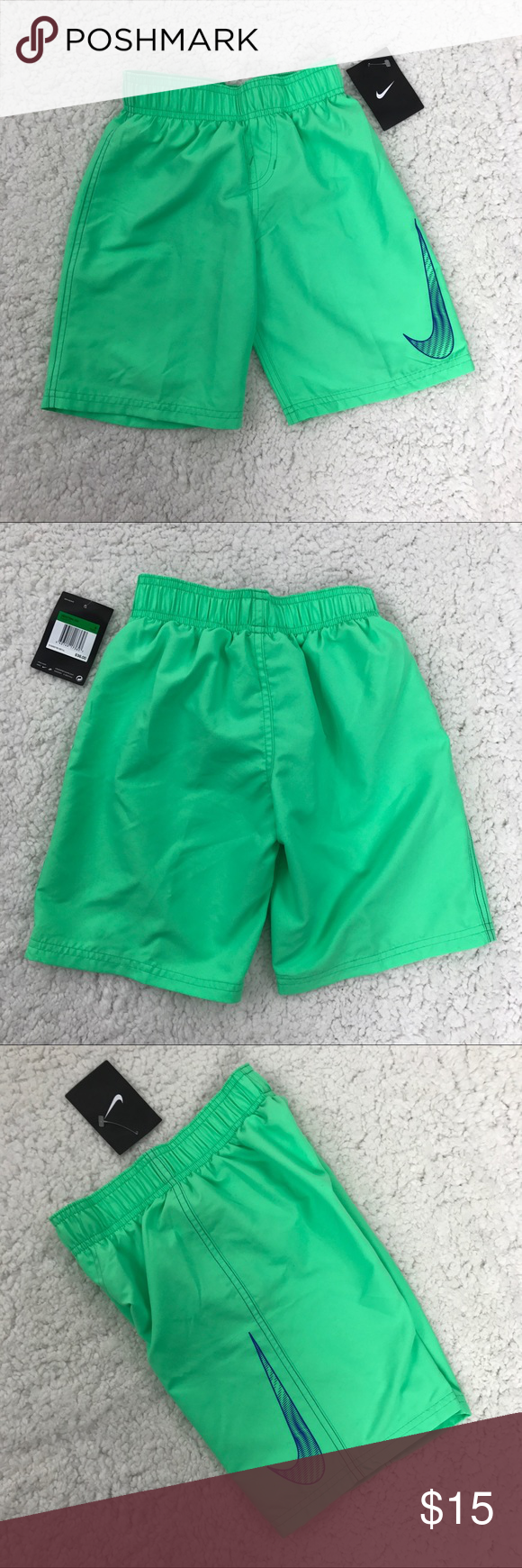 df05422f9b Nike Boys Swim Trunks Board Shorts Lime Neon Green Brand new with tags -  SKU NWT01 Please see photos for detail. Please send me a message if you  have any ...