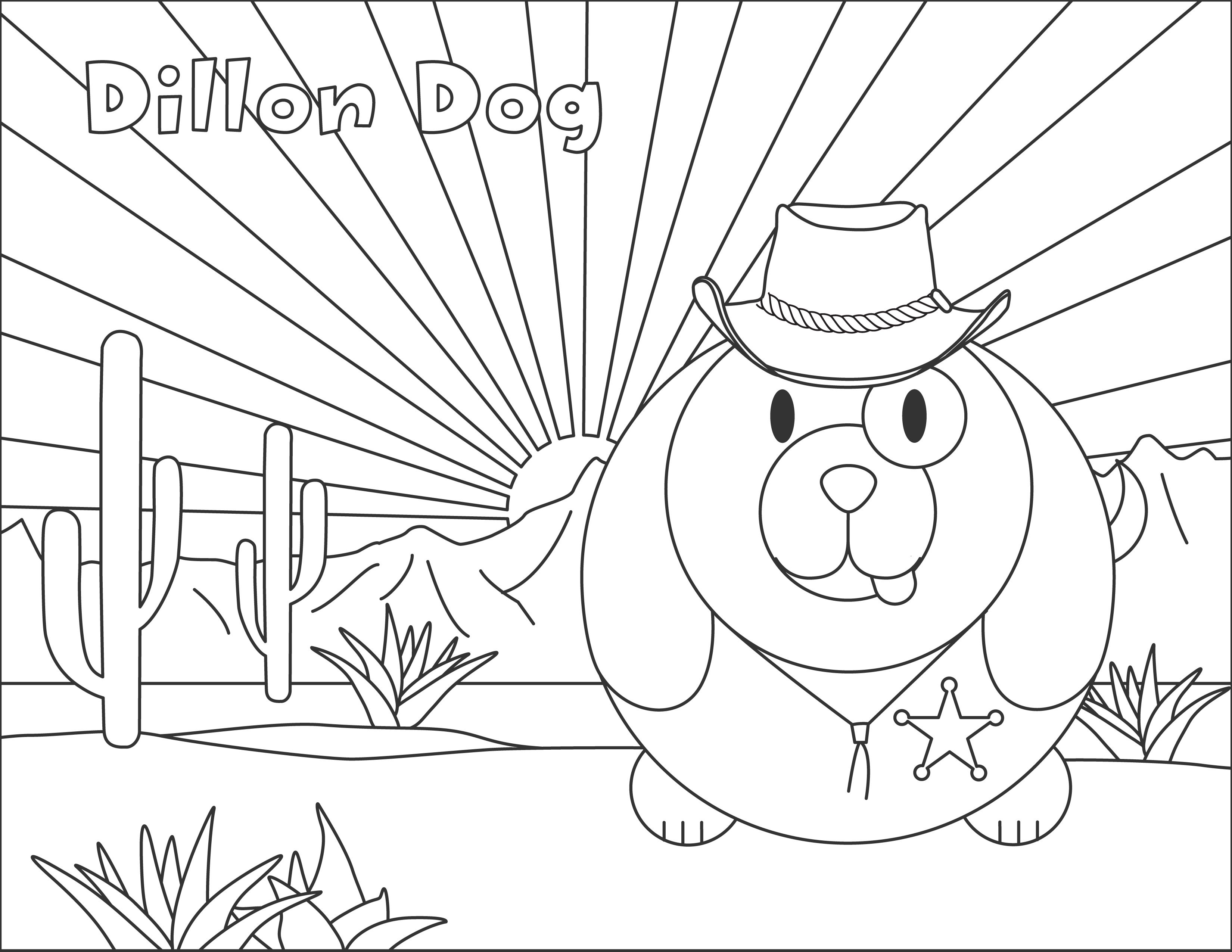 Dillon Dog Bumpidoodle Coloring Page