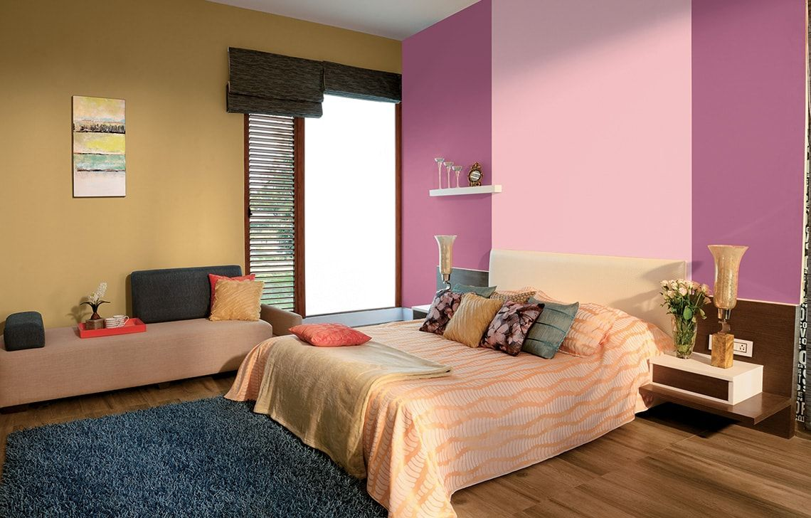 Wall Colour Combinations - Asian Paints  Bedroom color