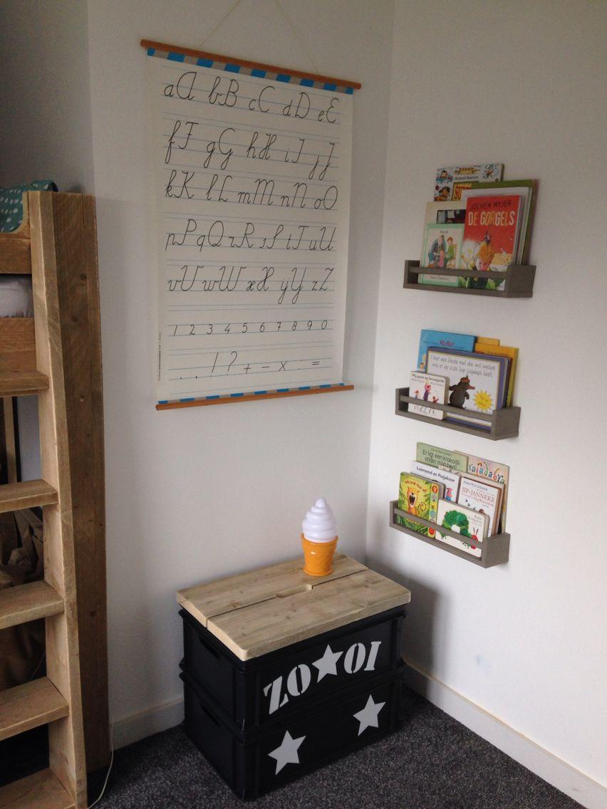 Kruidenrekjes ikea als boekenrek kist saartjeprum for Ikea ladeblok hout