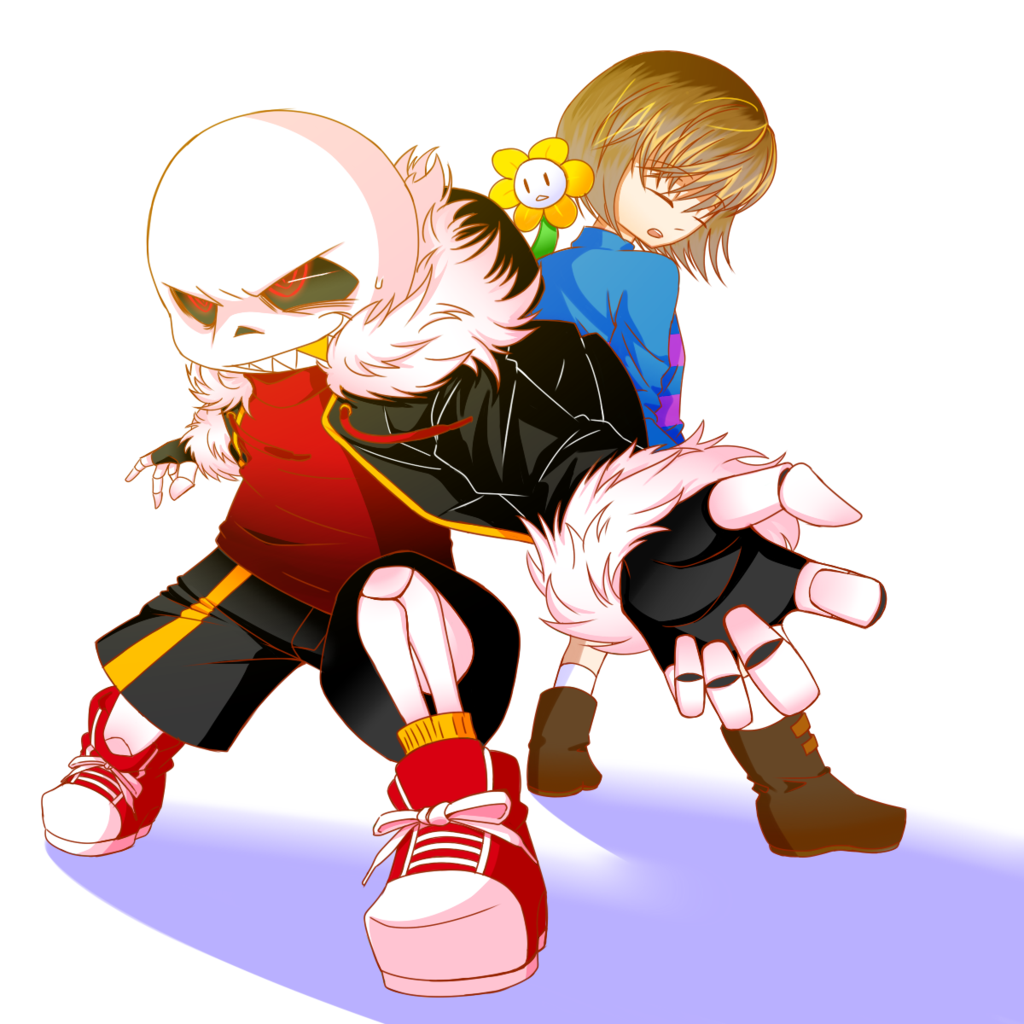 Anime Characters React Fanfiction : Underfell sans and frisk flower by lacampanellanuraver