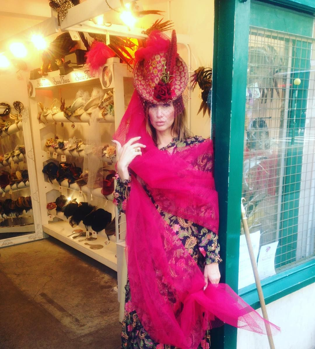 #SaraTiara #SaraTiaraShop #PortobelloMarket #SaraTiaraCustomer #customer #CustomerPhoto #PortobelloRoad #PortobelloRoadShop #SaraTiaraHeadwear #SaraTiaraHats #millinery #HatShopping #HatShop #Nottinghill #handmade #HandmadeHat #OneOfAKindDesign #HatWithVeil #PinkVeil #FeathersAndVeilHat #FeathersAndVeil