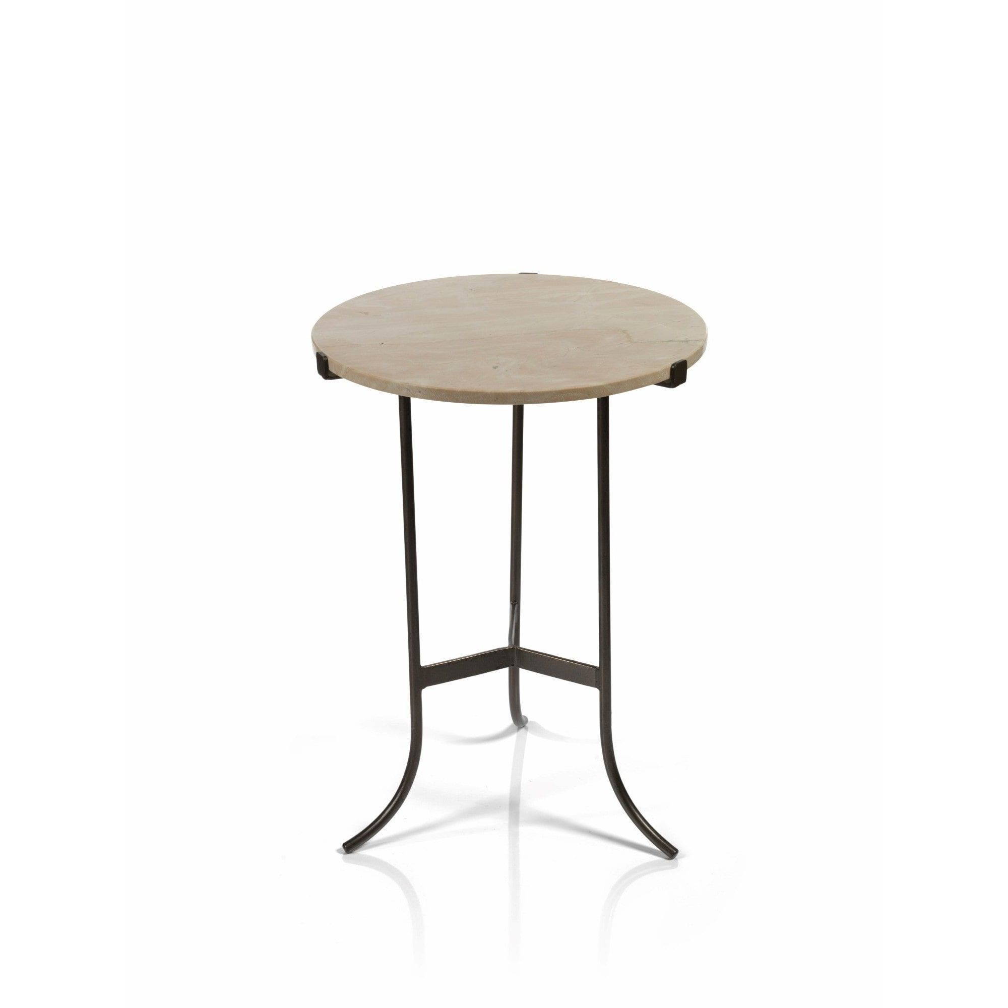 Zodax 22 Inch High Mimouna Marble Top Side Table