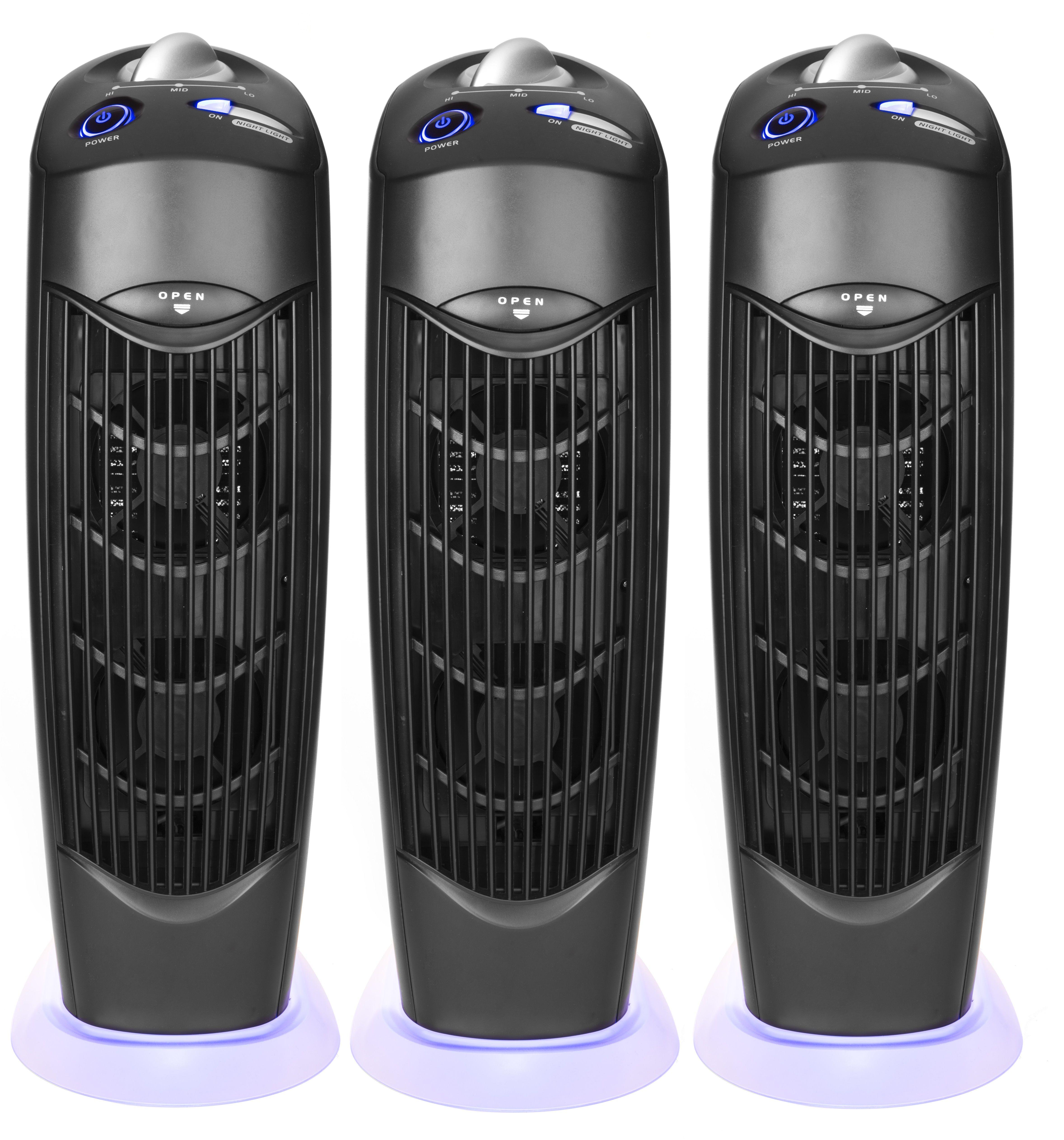 Three Ionic Atlas UV Electrostatic Carbon Filter Air