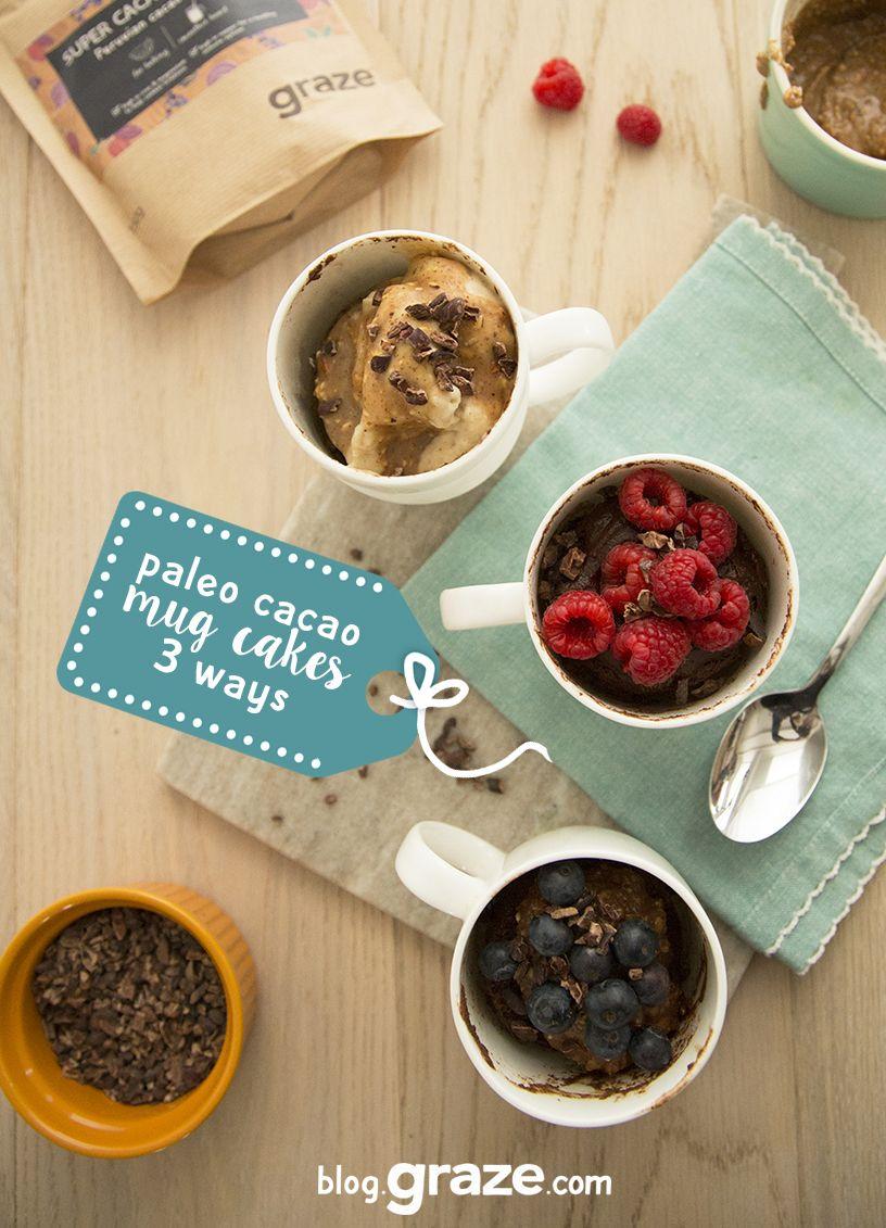 Cacao mug cakes | Recipe | Cacao recipes, Mug cake, Recipes