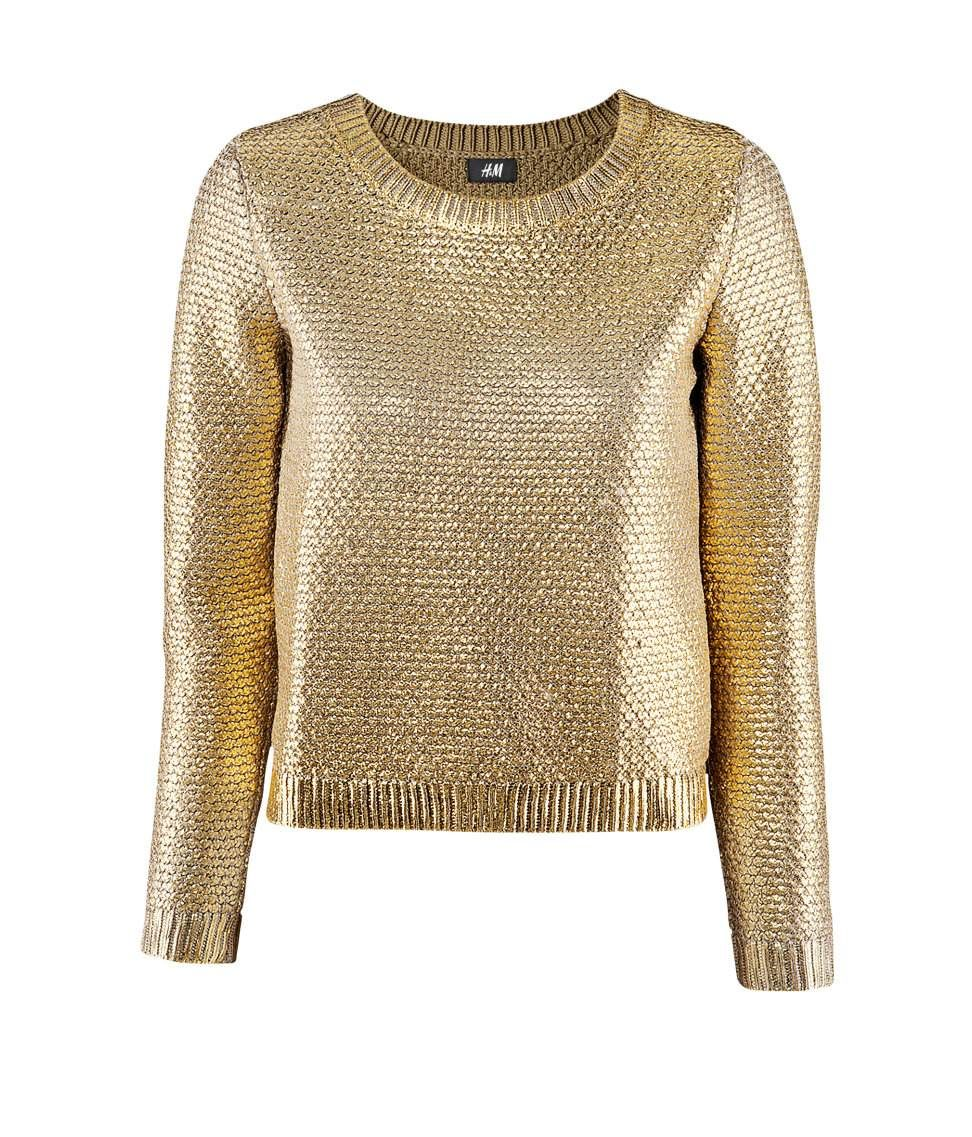 Blusa de Tricot Feminina Dourada | Blusa tricot feminina