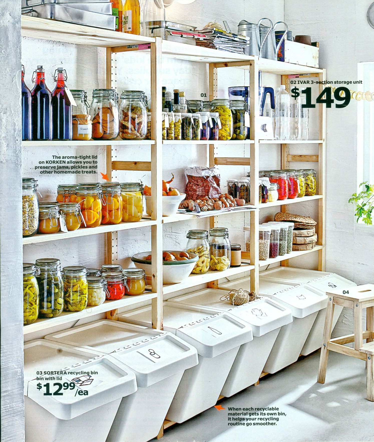 Wall Of Organization From Ikea Catalog In 2019