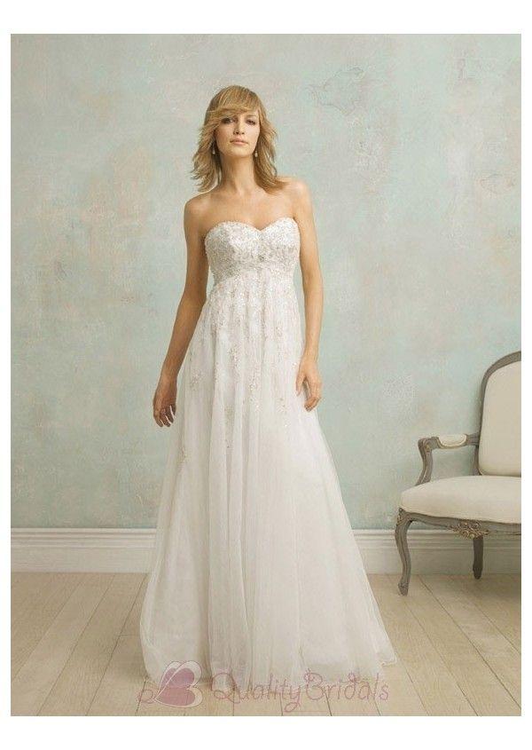 Vintage Couture Wedding Dress Empire Waist_Wedding Dresses_dressesss