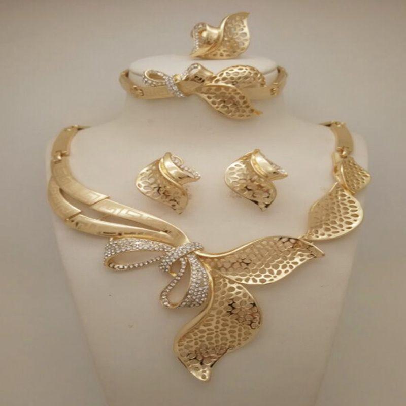 High Quality Fashion Nigerian Wedding African Beads Jewelry Sets