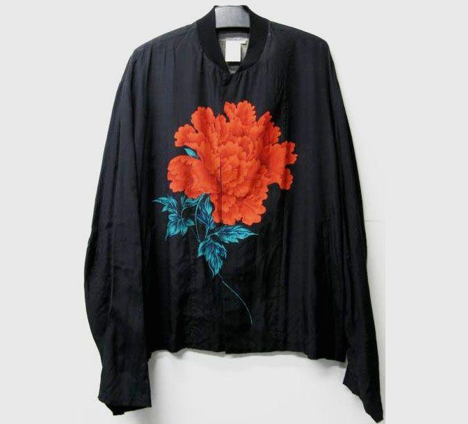 8a0954a5e Bomber jacket with floral motif | Yohji Yamamoto | 2016FALL-WINTER ...